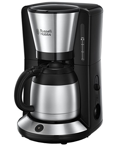 Russell Hobbs Adventure Macchina del Caffè, 1100 W, 10 Tazze, Acciaio