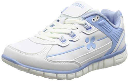 Oxypas Sunny Professionelle Arbeitsschuhe für Medizin/Pflege/Gastro, White/Blue (Light Blue), 5.5 UK (39 EU)