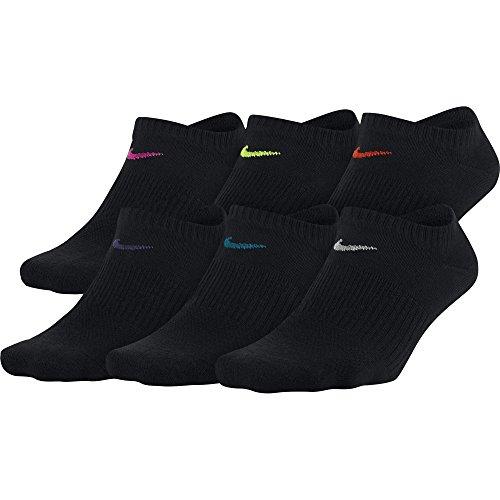 Nike Damen Everyday Lightweight Socken, 6er Pack, Schwarz, M