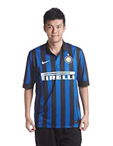 Nike Men's Replica Football Shirt Short Sleeves Internazionale, Men, Kurzärmliges Trikot Internazionale Replica, Black / Football White, S