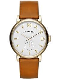 Marc Jacobs MBM1316 - Reloj con correa de cuero, para mujer, color blanco / marrón