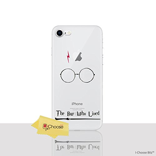 "iPhone 8 Citations de Harry Potter Étui en Silicone / Coque de Gel pour Apple iPhone 8 (4.7"") / Protecteur D'écran et Chiffon / iCHOOSE / Le Garçon"