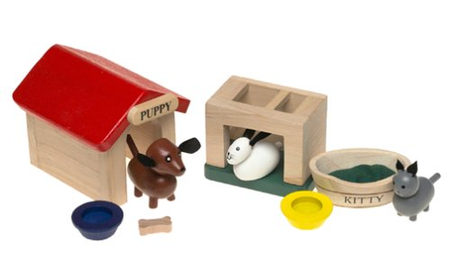 Small World Toys ryan' S Room Wooden Doll House Accessory–Pet set