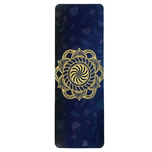 SLHP Reise Yogamatte 1mm | Extrem leicht, dünn, faltbar, rutschfest, waschbar 3-in-1 Matte Handtuch für Yoga Pilates (180x65cm / 70.9x25.6\'\', E)