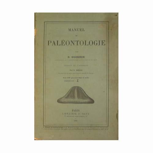 Manuel de paléontologie par Hoernes R.