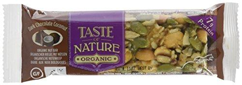 (Taste of Nature Bio Müsliriegel Dunkle Schokolade Kokosnuss mit 7g Protein, 16er Pack (16 x 40 g))