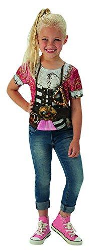 Rubies 2630866M Pirate Girl T-Shirt Child, Kostüm für Kinder, (Kostüm Shirt Piraten T)
