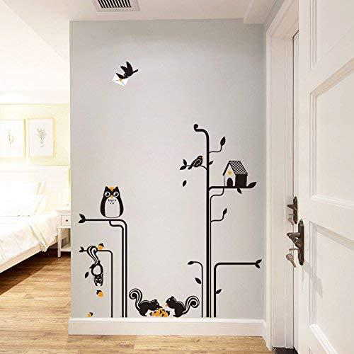 Mural Selbstklebende Hintergrund-Wand, Edroom Garderobe Nachttisch-Wand-Kunst-Dekor-Wohnzimmer-Sofa-Heirat-Raum-Wände sind Eichhörnchen-Katze vorangegangener Adler, dekorative Wasserdichte Aufkleber - Adler-raum-dekor
