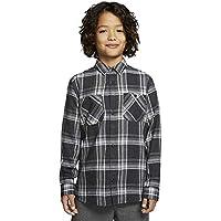 Hurley B Creeper Washed L/S Camisa, Niños, Black, XS