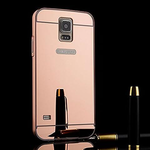 TOCASO Luxus Spiegel Aluminium Schutzhülle Hardcase Hülle für Samsung Galaxy