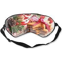 Schlafmaske mit weihnachtlichem Keksdruck, sehr glatt, Seidenoptik preisvergleich bei billige-tabletten.eu