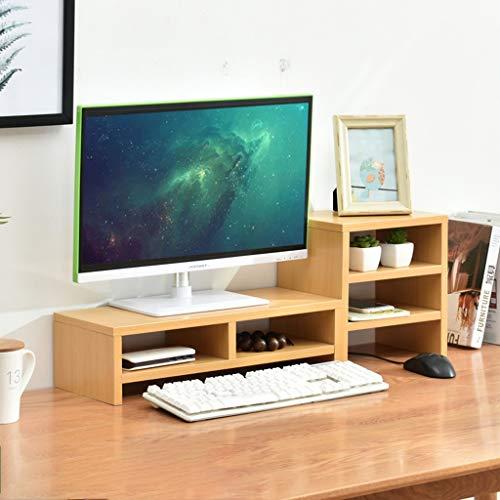 Speicher-rack-ständer (KKCD Multimedia-Desktop-Ständer Büro-Desktop-Computer-Riser-Ständer Desktop-Speicher-Rack-Auflage Hohe Bildschirm-Regalanzeige (Farbe : A))