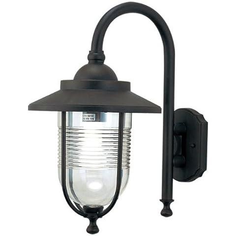 PAPILLON Lampada da giardino lanterna esterno in alluminio attacco E27 27x34 (Esterno Montaggio A Parete Lanterna)