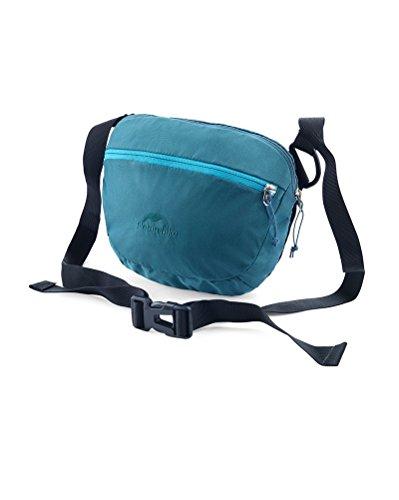 Yvonnelee 3-in-1multifunzione vita e fianchi, Borsa a tracolla a mano Pouch per Campeggio Alpinismo uomini e donne sport Gear leggero da viaggio, trekking, 2L, rosso blu