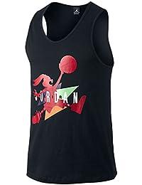 Nike Jordan Retro VII (7) WB Hare Tank Parte Superior Negro Rojo 707407 c6c7f348c9a