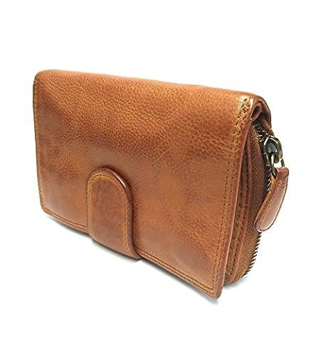 Lara02 - Geldbörse Geldbeutel Portemonnaie für Damen in Echt Leder