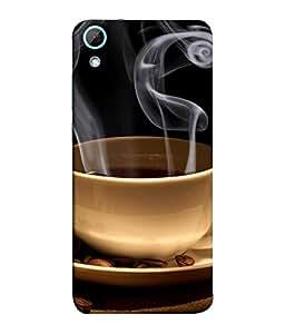 FUSON Designer Back Case Cover for HTC Desire 820 :: HTC Desire 820 Dual Sim :: HTC Desire 820S Dual Sim :: HTC Desire 820Q Dual Sim :: HTC Desire 820G+ Dual Sim (Fresh Hot coffee Tea Cups soccer)