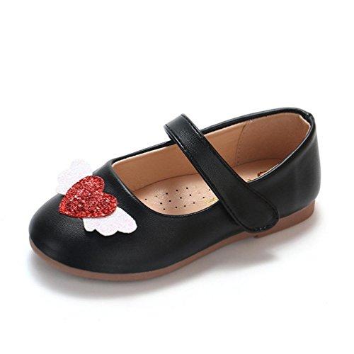 41cd0d4a48332 ELECTRI Toddler Bébé Filles Enfants Mignon Dessin Animé Chat en Cuir Seule  Chaussures ...
