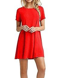 Amazon Vestiti Abbigliamento Donna Chemisier Rossi it HCwx5qHr