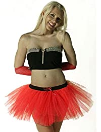 Crazy Chick Red Devil Halloween Fancy Dress 3 Layer Ballet Dance Tutu Skirts