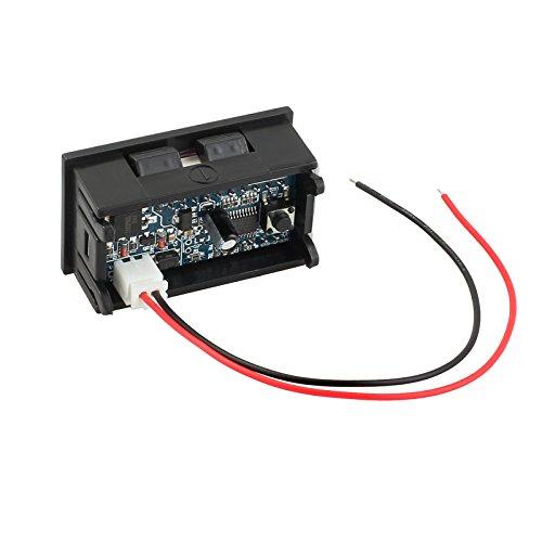 AUTOUTLET Digital LCD Blei Säure Batterie Kapazität Anzeige Spannung Meter Voltmeter Tester 12V -