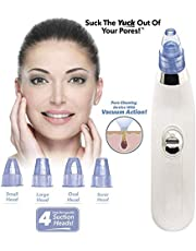 MAPANI 4 in 1 Multi-function Blackhead Remover and Whitehead Remover Device - Acne Pimple Pore Cleaner Vacuum Suction Tool for Men and Women Gently pull dirt and oil out of your skin.