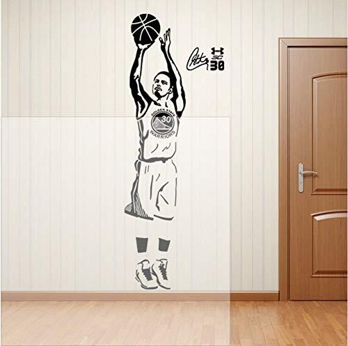 Basketball Wandaufkleber Basketball Spieler Wandtattoos Curry Aufkleber FürUnd Schule Einfache Paste Mit Entfernbarem Kleber 54X150cm
