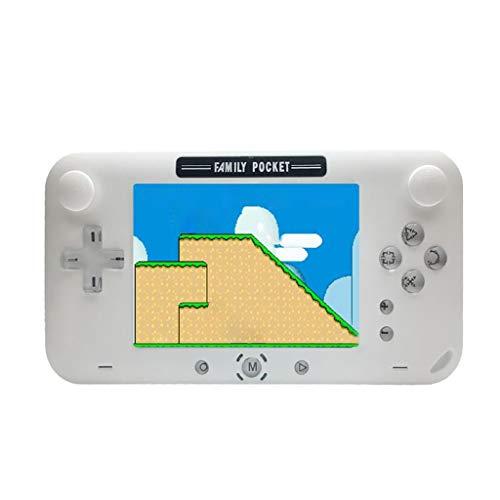 Handheld Spielekonsole,Serria® 4 Zoll 208 Spiele Retro NES Game Player Klassische Spielekonsole   ununterbrochen 6 Stunden lang   600 mA Lithium-Ionen-Akku (Rosa)