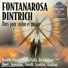 Duos pour violon et guitare : Oeuvres de Vivaldi, Paganini, Falla, Sarasate ...