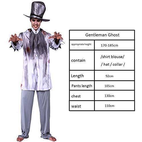haojiagongsi Halloween Kostüme Horror Maskerade Cosplay Kostüm für Erwachsene Gentleman Ghost
