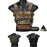 emersongear Chest Rig Micro Fight MK3 Modular Lightweight Chest Rig with 5.56 Mag Pouch Sack, RG