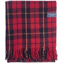 The Tartan Blanket Co. Couverture recyclée en laine – style tartan écossais Wallace