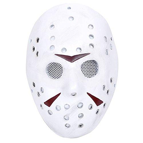 Für Silvester Ideen Kostüm (ccoway Kostüm Prop, Jason Voorhees Maske für Freddy Hockey Festival, Halloween, Party, Cosplay und mehr)