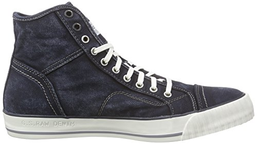 G-Star FALTON WASHED HI, Sneakers Basses homme Bleu (raw)