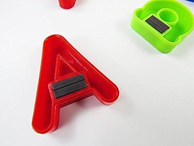 80 pièces lettres et numéros d'apprentissage magnétiques, VicPow Jouets éducatifs pour petits enfants pour l'apprentissage préscolaire, l'orthographe, le comptage