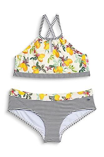 ESPRIT Mädchen Panama Beach YG amer neckho+hip Badebekleidungsset, Gelb (Bright Yellow 740), Herstellergröße: 164
