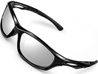SIPLION Uomo occhiali da sole polarizzati per Sportivi da golf bicicletta Guida Pesca 503 RED
