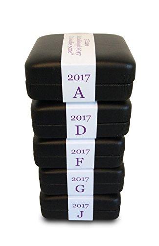 Preisvergleich Produktbild MÜNZJUWEL Luxus-Schatulle für 5 Euro Münze 2017 Tropische Zone inkl. Münzkapsel # Serie Klimazonen der Erde 5er Set für alle Prägestätten (A,D,F,G,J)