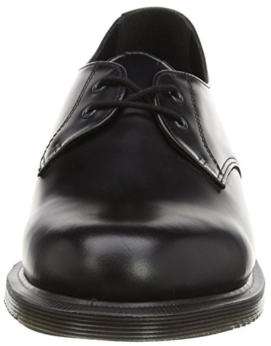 Dr. Martens Brook Polished Smooth Black, Derby Femme Noir (Black)
