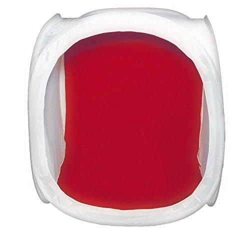 DÖRR Lichtzelt/Aufnahmebox weiß 90x90 cm inkl. 4 Hintergründe in weiß, schwarz, rot und blau, Klettabdeckung mit Objektivöffnung und Transportbeutel