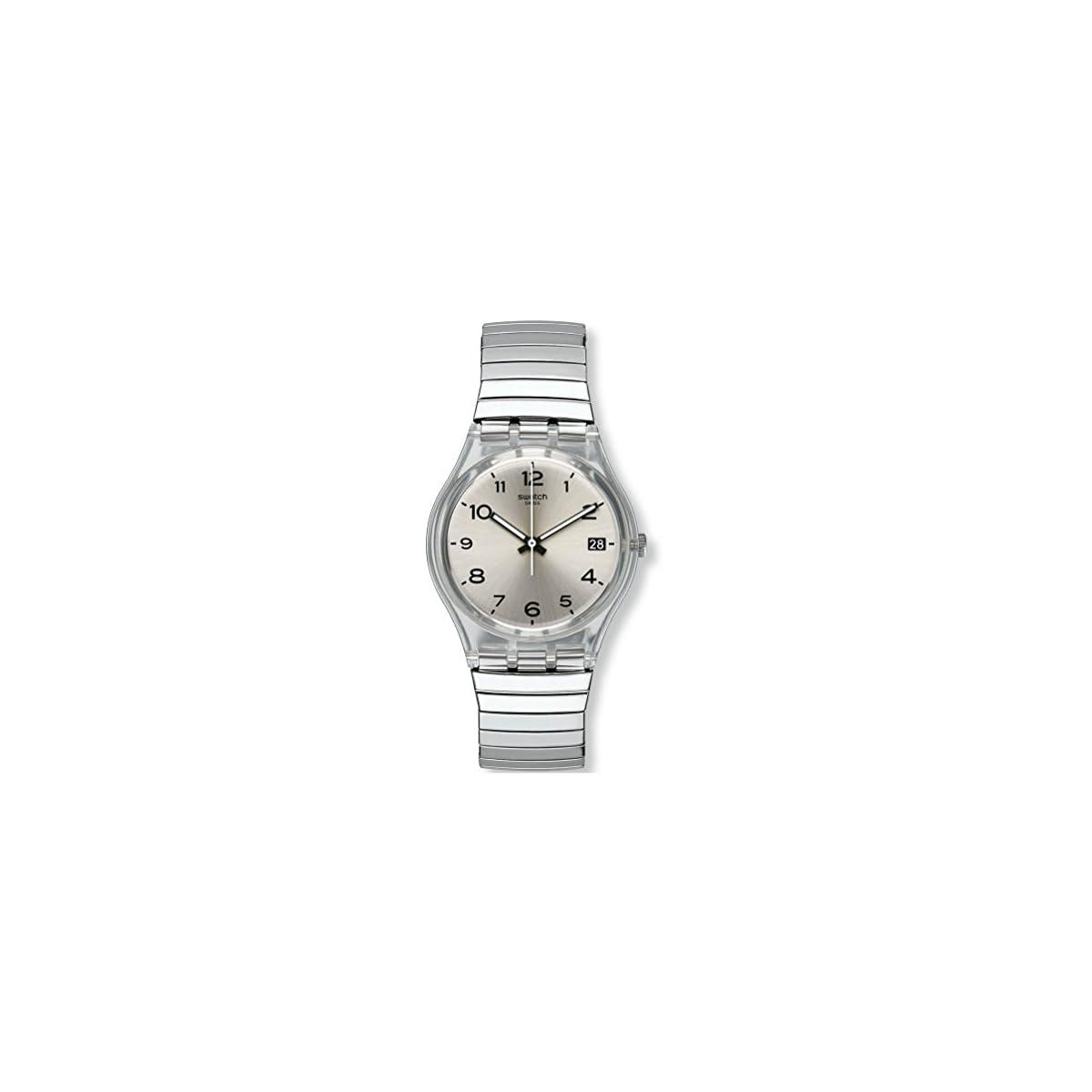 410NduWWwyL. SS1200  - Swatch Reloj Digital de Cuarzo para Mujer con Correa de Acero Inoxidable - GM416A