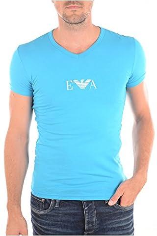 Chemise Homme Armani - Emporio Armani t-shirt bleu ciel manches courtes