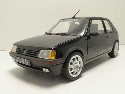 Norev–Peugeot 205GTi 1.9L–1988(escala 1/18, 184854, Negro