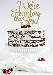 Gender Reveal Cake Topper, We'Re Here For The Sex Cake Topper, Baby Shower Cake Topper, He Or She, Boy Or Girl, Baby Boy Cake, Baby Girl