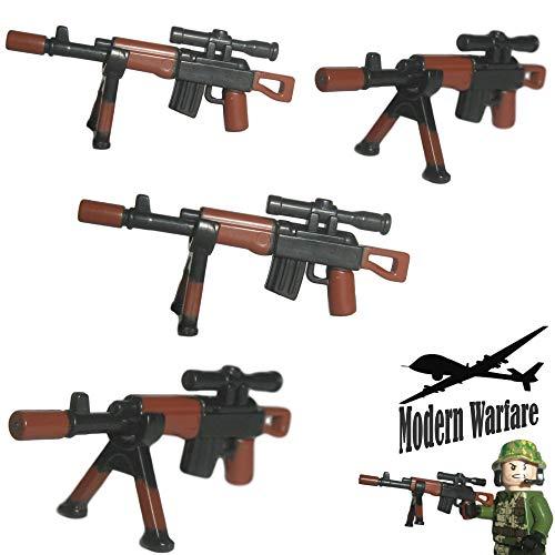 Custom Brick Design 4X SW-Dragunov Scharfschützengewehr Bi-Color Print - Soldaten Waffe für Lego Figuren