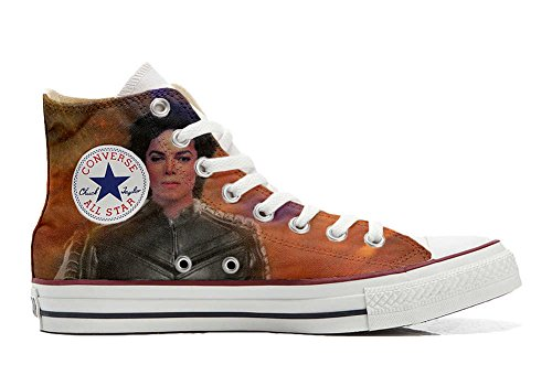Converse All Star Chaussures Coutume Mixte Adulte (Produit Artisanal personnalisé) The King of The Rock