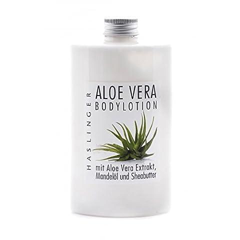Bodylotion Aloe Vera Haslinger, Körpermilch mit Aloe Vera Extrakt, 200 ml (Aloe Vera Bodylotion)
