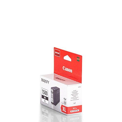 Preisvergleich Produktbild Original Canon 9182B001 / PGI-1500BKXL,  für Maxify MB 2150 Premium Drucker-Patrone,  Schwarz,  1200 Seiten,  34, 70 ml