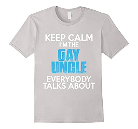 Men's I'm The Gay Uncle T Shirt, Gay Uncle T Shirt 2XL Silver