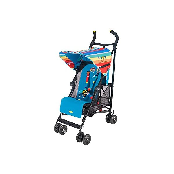 Maclaren Dylan's Candy Bar Volo Stroller - super lightweight, compact Maclaren Basic weight of 3.3kg/7.2lb; ideal for children 6 months and up to 25kg/55lb Maclaren is the only brand to offer a sovereign lifetime warranty Extendable upf 50+ sun canopy and built-in sun visor 11